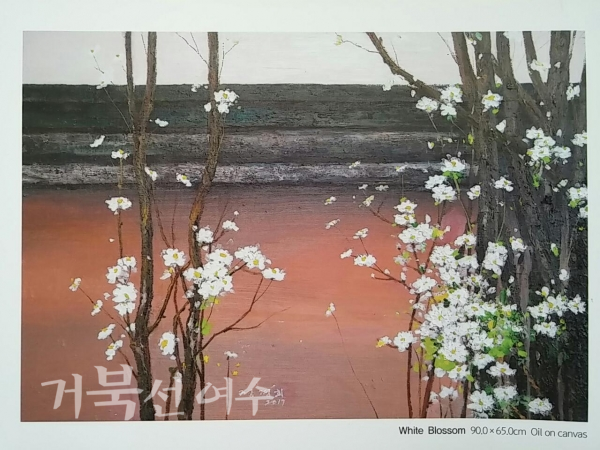 △정경희 'White Blossom' Oil on canvas